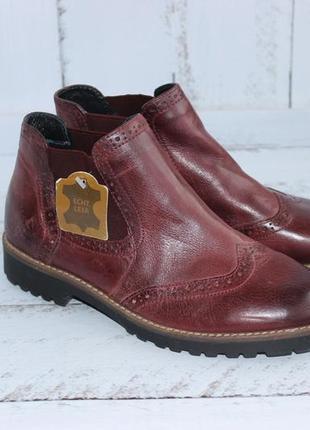 5th avenue кожаные ботинки, челси утепленные4 фото