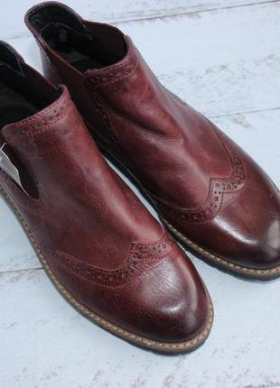 5th avenue кожаные ботинки, челси утепленные5 фото