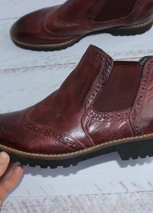 5th avenue кожаные ботинки, челси утепленные6 фото