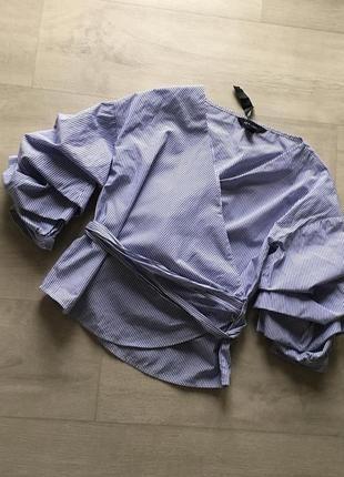 Стильная рубашка блуза  на запах