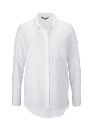 Белая рубашка из органического хлопка от tchibo (германия). 46евро (наш 52)
