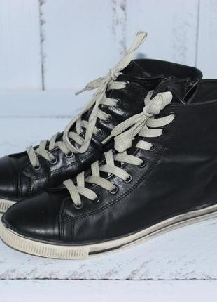 Bianco кожаные высокие кеды, ботинки на шнуровке2 фото