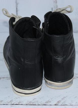Bianco кожаные высокие кеды, ботинки на шнуровке3 фото