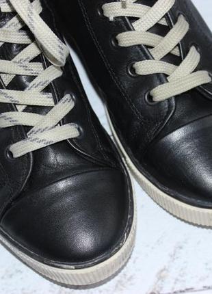 Bianco кожаные высокие кеды, ботинки на шнуровке6 фото