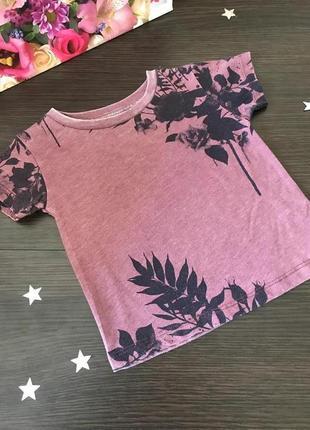 Классная фирменная футболка прекрасной расцветки 0-3 мес 6-9 мес
