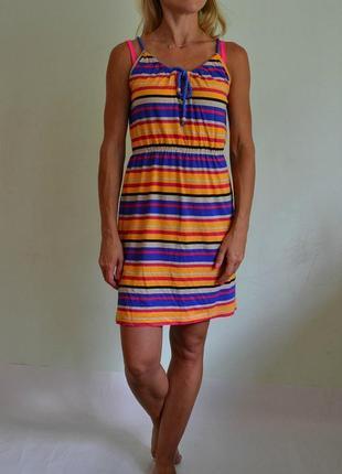 Лёгкое хлопковое трикотажное платье