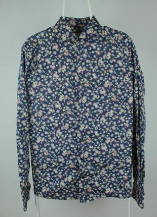 Шикарная рубашка от дорогого бренда eton floral print dress slim shirt