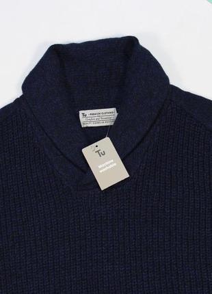 Четкий свитерок в темно-синюю текстуру от tu-clothing