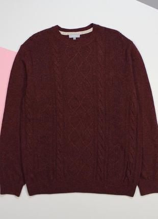 Наряднейший шерстяной (70%) свитер в красивую вязку от maddison