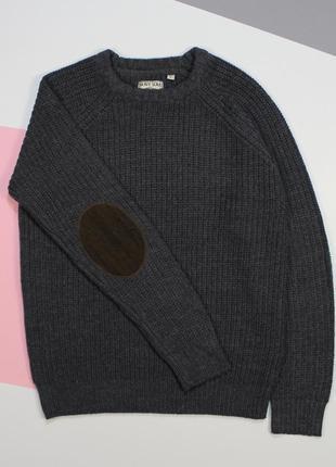 Четкий свитерок средней плотности с вельветовыми налокотниками от bravesoul