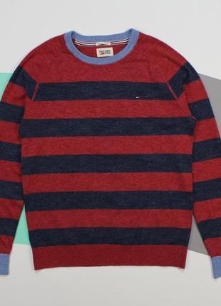 Оригинальный тонкий свитерок в полоску от tommy hilfiger
