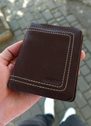 Кожаные кошелек портмоне levi's оригинал