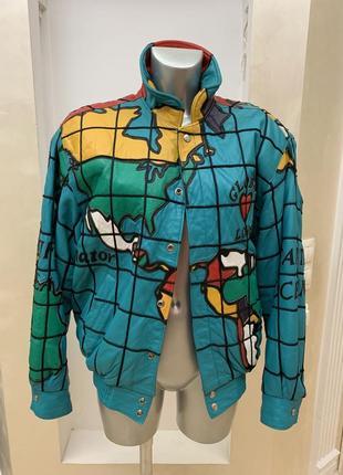 Куртка jeff hamilton, кожа, осень, весна, бомбер, дизайнерская