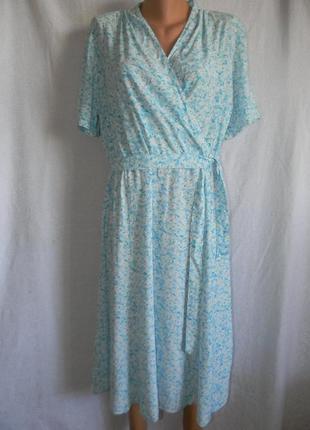 Натуральное платье с нежным принтом