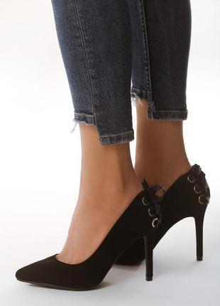 Новые черные женские туфли лодочки