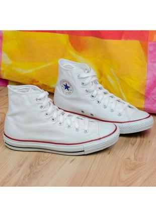 Кеды converse chuck taylor all star hi optical white m7650 оригинал
