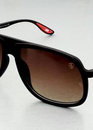 Ray ban p ferrari очки мужские солнцезащитные поляризированые коричневые