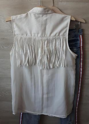 Блуза с бахромой colins