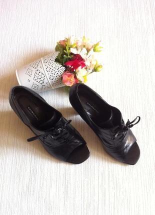 Туфли с открытым носком belmondo размер 36 черные