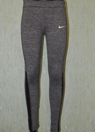 Беговые штаны, тайтсы, леггинсы, лосины nike fitdry 369687 running