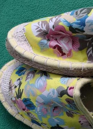 Мокасины эспадрильи, нежный цветочный принт, 37-39 размеры, финляндия3 фото
