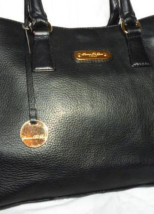 Шикарная большая сумка натуральная кожа sienna de luca италия