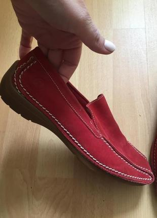 Замшевые туфли мокасины gabor