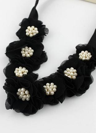 Повязка обруч на голову цветы на резинке
