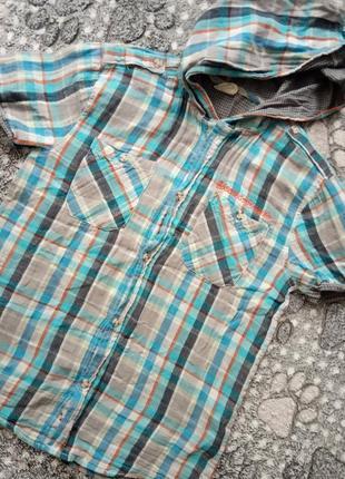 Крутая фирменная рубашка 100% хлопок