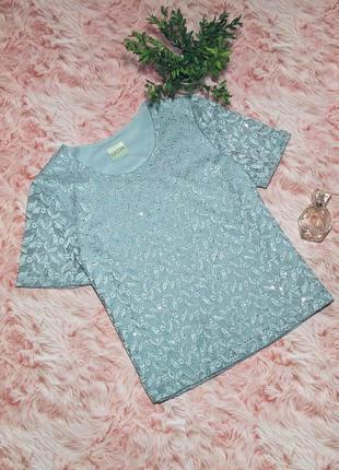 Нарядная блуза футболка блестки eastex