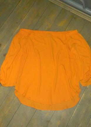 Блуза кофточка с открытыми плечиками и завязками на рукавах new look