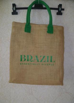 Сумка пляжная из мешковины, эко сумка, сумка пляжная, для шоппинга