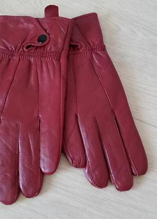 Кожаные женские перчатки р.l
