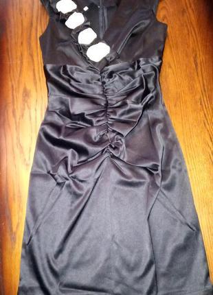 Черное повседневное платье tivardo