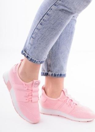 Розовые кроссовки кеды в сеточку летние1 фото