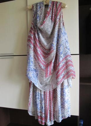 Шикарное шелковое платье сарафан