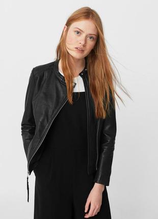 Нова шкіряна кожаная куртка mango xs