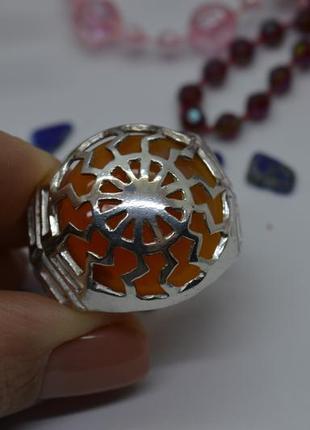 Серебряное #кольцо, #сердолик, #черное_солнце, #оберіг #срібна_каблучка, #унисекс, #21р-р
