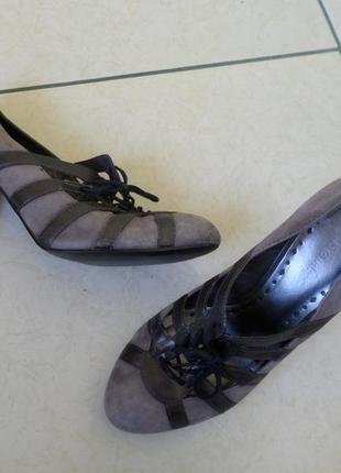 Bcb туфлі з натуральної замші 38р