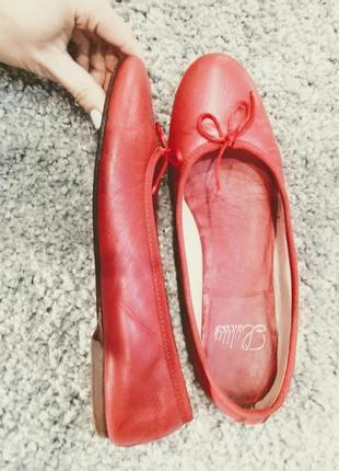Красивые красные балетки🌹🌹🌹