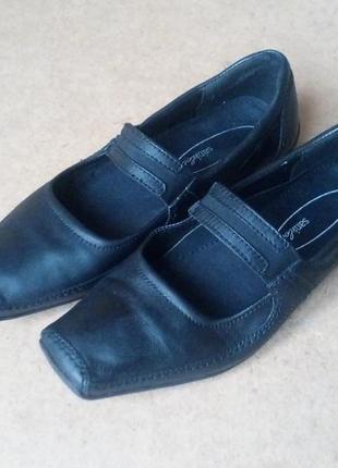 Мокасины туфли sani кожаные мягкие черные