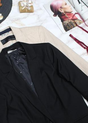 Обнова! блейзер удлиненный пиджак жакет черный на 1 пуговице3 фото