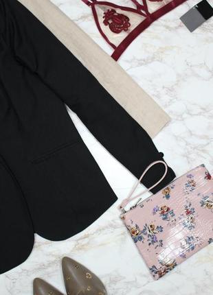 Обнова! блейзер удлиненный пиджак жакет черный на 1 пуговице5 фото