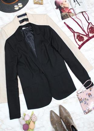 Обнова! блейзер удлиненный пиджак жакет черный на 1 пуговице2 фото