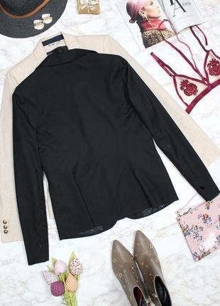 Обнова! блейзер удлиненный пиджак жакет черный на 1 пуговице7 фото