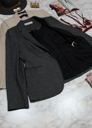 Обнова! блейзер удлиненный пиджак жакет серый граффит на 1 пуговице zara5 фото