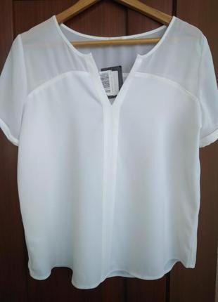 Блуза promod с прозрачным верхом.