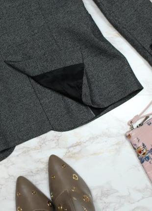 Обнова! блейзер удлиненный пиджак жакет серый граффит на 1 пуговице zara8 фото