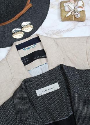 Обнова! блейзер удлиненный пиджак жакет серый граффит на 1 пуговице zara4 фото
