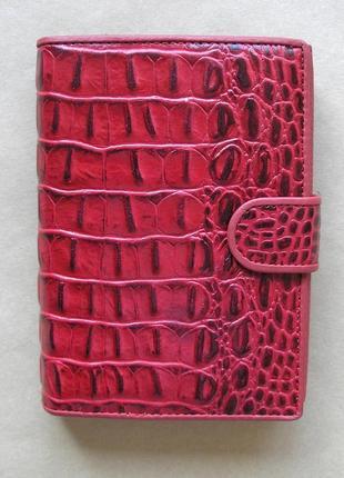 Большой кожаный кошелек портмоне бумажник, 100% натуральная кожа, доставка бесплатно